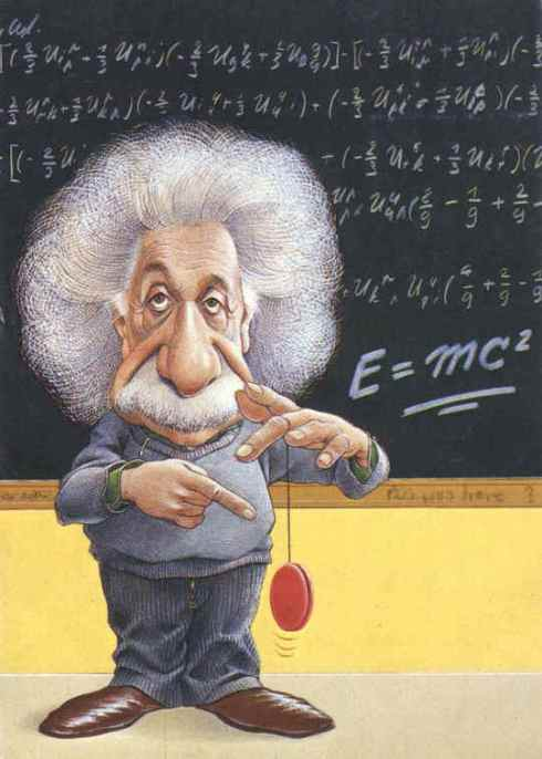 einstein with pendulum
